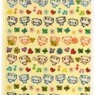 kawaii Q-lia panda sticker sheet USED