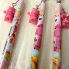 kawaii rainbow Care Bears pen with charm