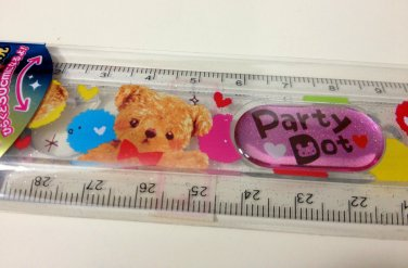 kawaii Bear Party Dot ruler