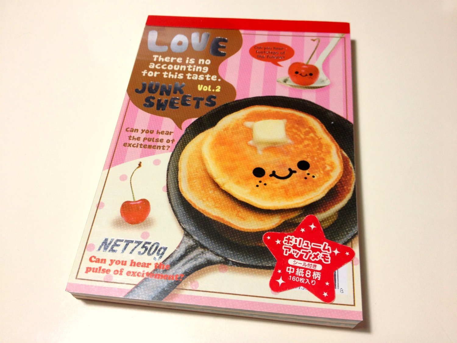kawaii Q-lia Love Junk Sweets memo pad USED