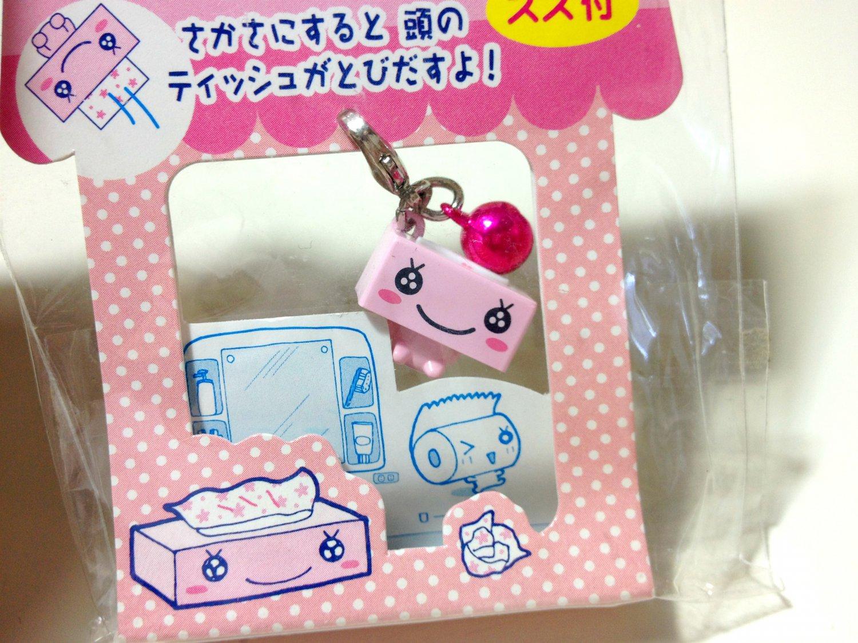 kawaii San-x Hanachan pink tissue cell phone charm 2002
