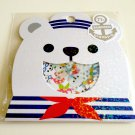 kawaii Mind Wave Polar bear summer vacation sticker sack