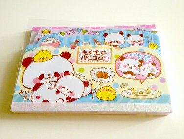 kawaii Crux baking panda tabbed memo pad USED