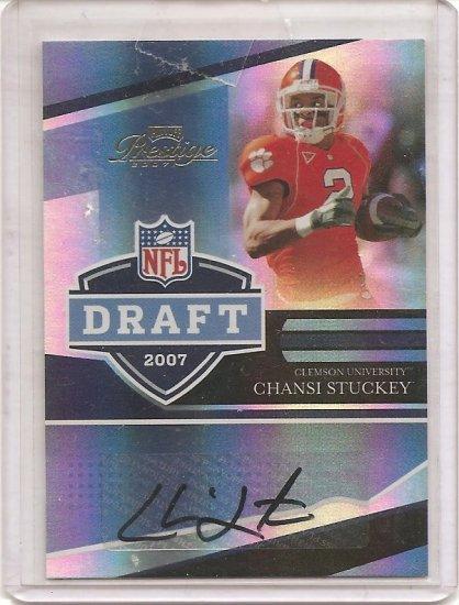 2007 Prestige Chansi Stuckey NFL Draft Auto
