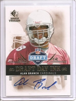2007 SP Rookie Threads Alan Branch Auto