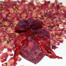 Naturally Scented Red Rose Sachets (Chemical-Free Rose Petals in Heart Shaped Sachets) - Set of 3