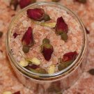 Natural 100% Pink Himalayan Bath Salts With Rose and Jasmine Buds and Infused with Jasmine Oil