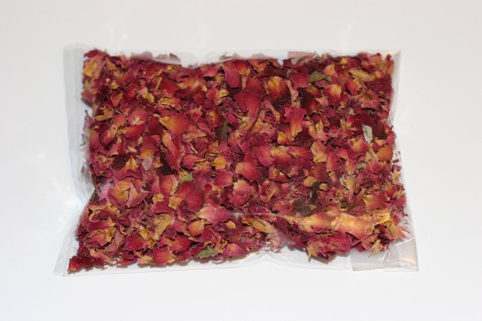 Freshly Dried Red Rose Petals