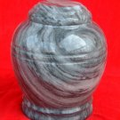Grey and White Marble Urn with Lid
