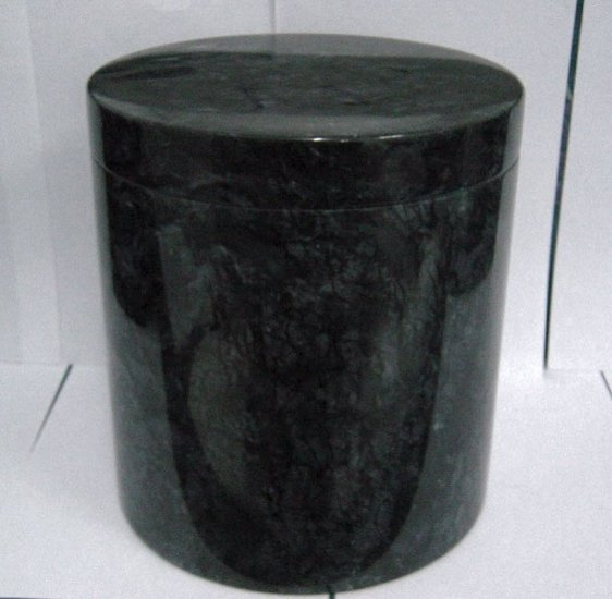 Black Marble Urn with Lid