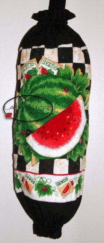 Plastic bag holder - Grocery bag recycler - Small - Summer watermelons