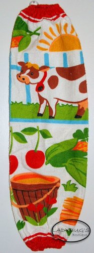 Plastic bag holder - Grocery bag recycler - Large - Colorful cows