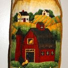 Plastic bag holder - Grocery bag recycler - Small - Rooster on barn-farm