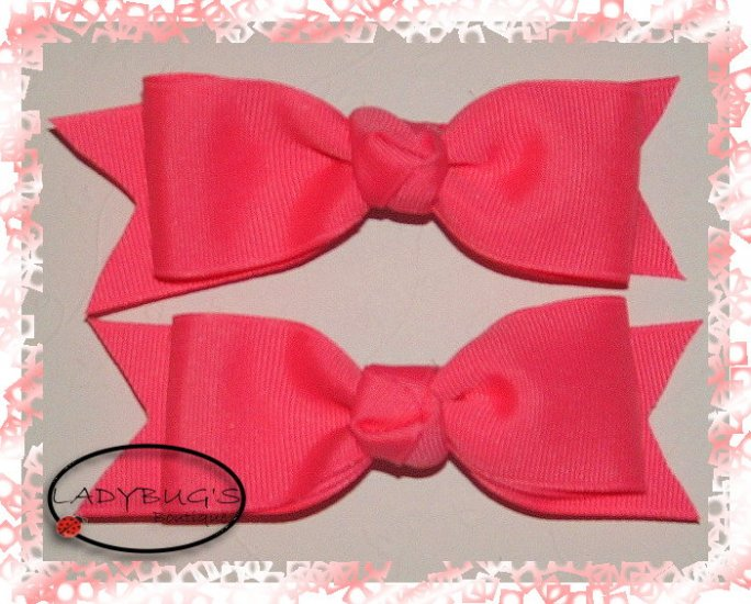 Custom Boutique hairbow - Tutti Frutti Pink