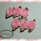 Custom Boutique hair clips - baby pink cabbage roses