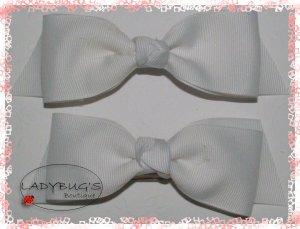 Custom Boutique hairbows - White