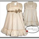 Custom Boutique dress * Beige Ivy Sz 3