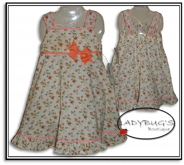 Custom Boutique dress * Romantic roses Sz 3