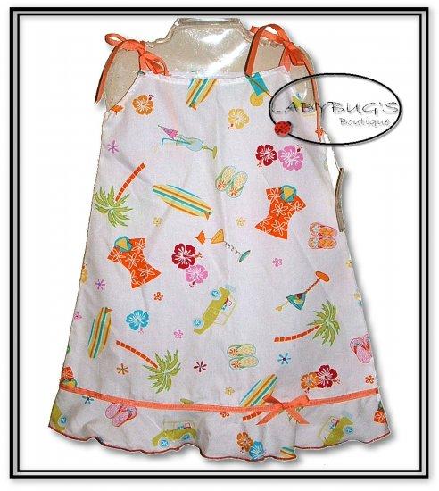 Custom Boutique dress * Hawaiian summer sz 4