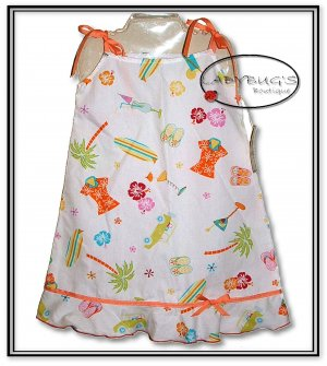 Custom Boutique dress * Hawaiian summer sz 5