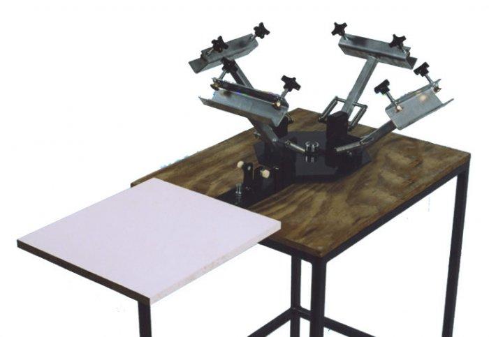 4 COLOR 1 STATION manual Screen printing press