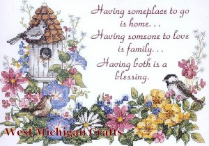 Dimensions Flowery Verse Stamped Cross Stitch Kit 3160