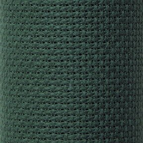 Charles Craft Classic Reserve Gold Aida Cloth ~ 14 Count 15 X 18 ~ Hunter Green
