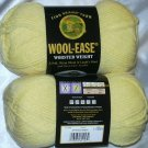 Lion Brand Wool Ease Worsted Weight 1 skein ~ Pastel Yellow 620-157