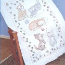 Jack Dempsey Stamped Lap Quilt Top ~ Kitty Cats 940461