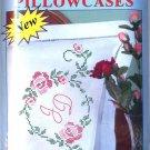 Jack Dempsey Stamped Pillowcases KING Size ~ Rose Monogram 1610-393
