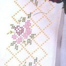 Jack Dempsey Stamped Pillowcases White Perle Edge ~ Rose Lattice 1600-473