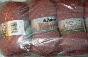 Patons Classic Wool Merino Worsted 1 Skein ~ Woodrose Heather 77425