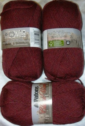 Patons Classic Wool Merino Worsted 1 Skein ~ Cognac Heather 77532
