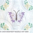 Jack Dempsey White Quilt Blocks ~ Interlocking XXX Butterfly 732-347