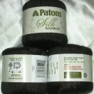 Patons Silk Bamboo Yarn 2.2 oz Ball ~ Coal 85040