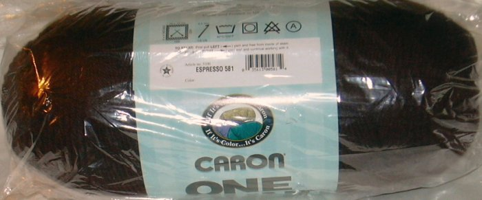 Caron Natura One Pound Yarn 16 ozs - 1 Skein Espresso 581