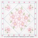 Jack Dempsey White Quilt Blocks ~ Star Lily 732-431