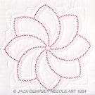 Jack Dempsey White Quilt Blocks ~ XX Pinwheel 732-92