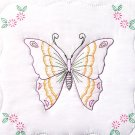 Jack Dempsey White Quilt Blocks ~ Butterfly 732-283