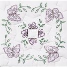 Jack Dempsey White Quilt Blocks ~ Interlocking Circle of Butterflies 732-307