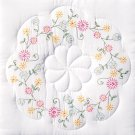 Jack Dempsey White Quilt Blocks ~ Circle of Flowers 732-305