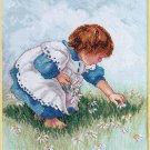 Janlynn Counted Cross Stitch Kit ~ Collecting Daisies 029-0055