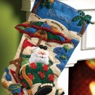 Bucilla Felt Applique Stocking Kit ~ Coolin' It 86105
