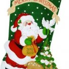 Bucilla Felt Applique Stocking Kit ~ Christmas Feast 85271