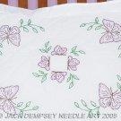 Jack Dempsey Stamped Cross Stitch Pillow Sham ~ Butterflies 1200-307