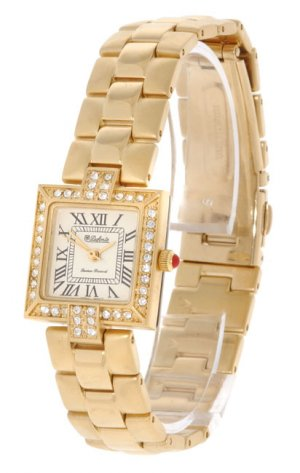 Dufonte by Lucien Piccard Women's Goldtone CZ Accent Watch