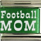 FOOTBALL MOM COLOR LASER ITALIAN CHARM/CHARMS