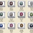 SEPTEMBER CZ SAPHIRE FLOWER BIRTHSTONE ITALIAN CHARM
