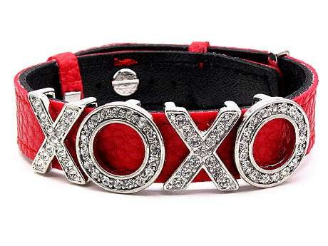 NEW SEXY DESIGNER STYLED XOXO CZ STONES RED BRACELET