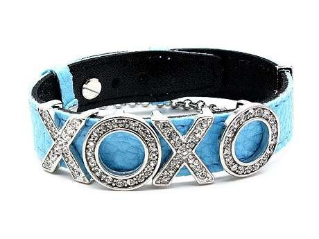 NEW DESIGNER STYLED XOXO CZ STONES BABY BLUE BRACELET